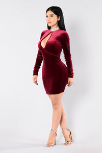 Who's Keeping Score Dress - Burgundy