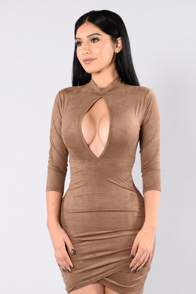 Keys to the Kingdom Dress - Mocha
