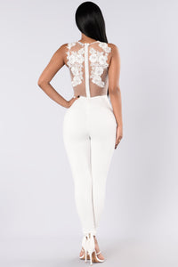 Sweet Revenge Jumpsuit - White