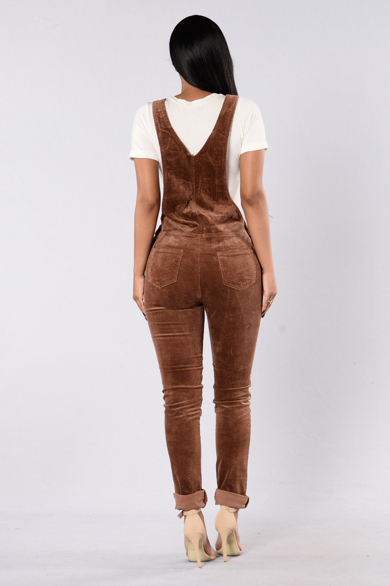 d77ebeeb583 Corduroy Joy Overalls - Brown