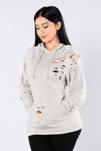 How Do You Like Me Now Hoodie - Grey