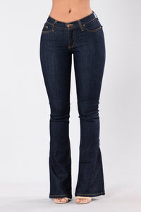 Flared Out Jeans - Dark