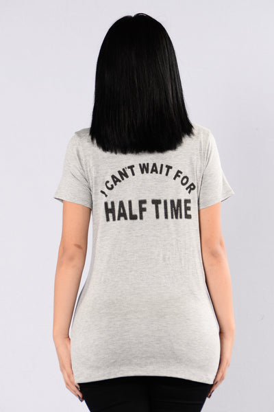 Halftime Tee - Heather Grey
