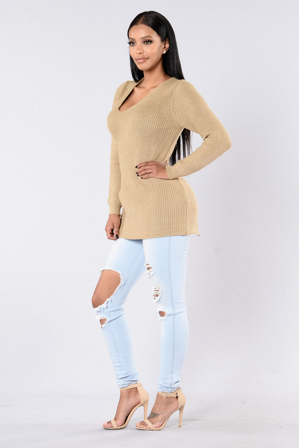 Back It Up Sweater - Taupe