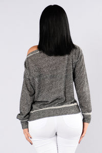 Midnight Call Sweater - Heather Grey