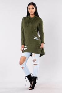 That's The Way Tunic - Olive