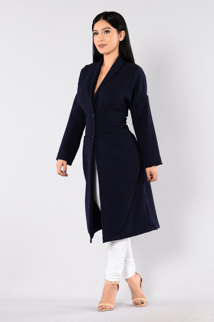 Properly Courted Coat - Navy