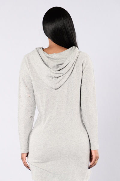 That's The Way Tunic - Grey
