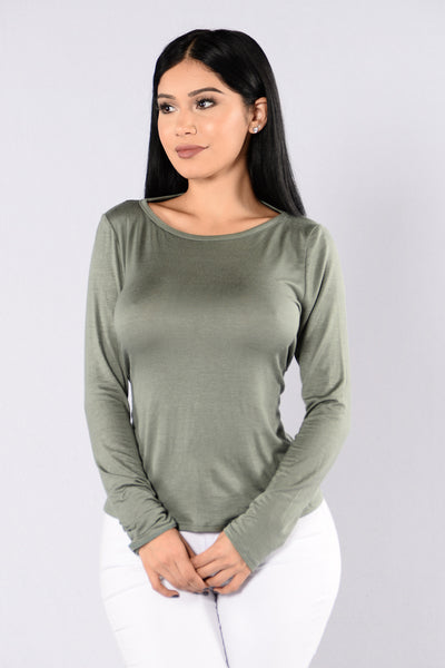 Poison Paradise Top - Olive