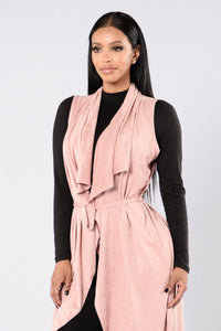 Way Out West Vest - Dusty Pink
