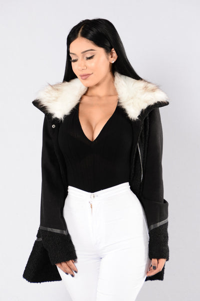 Night Time Lover Coat - Black