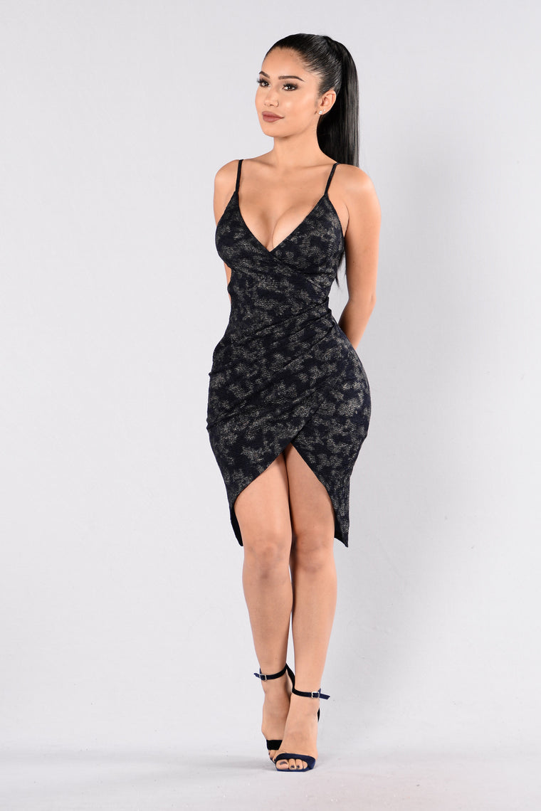 Closure Dress - Navy