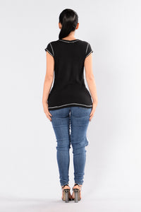 Yesterday Once More Tee - Black