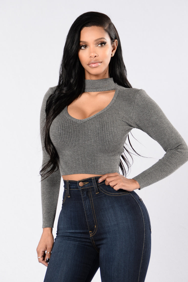 Ciara Top - Oxford Grey
