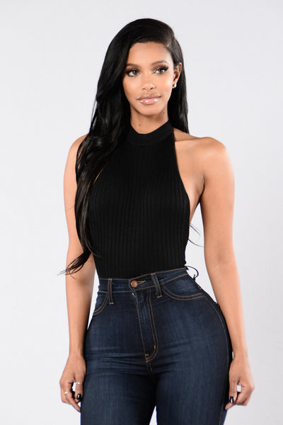 Rock Me Out Bodysuit - Black