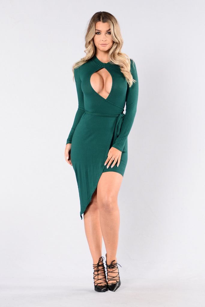 Wild Thang Dress - Hunter Green