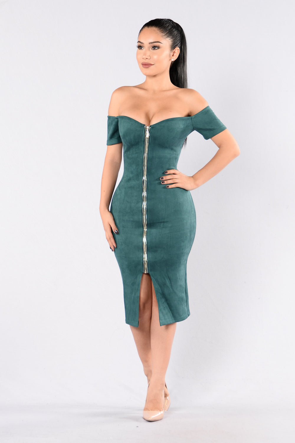 Zip It Dress - Teal