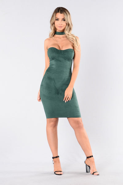 Live And Let Live Dress - Hunter Green