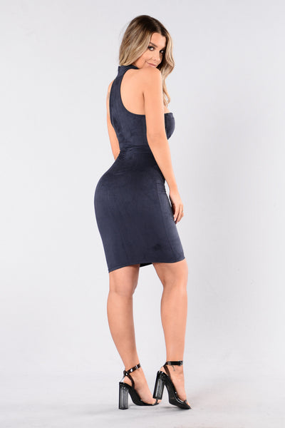 Live And Let Live Dress - Navy