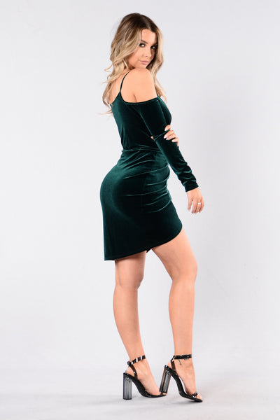 Bring It Back Dress - Hunter Green