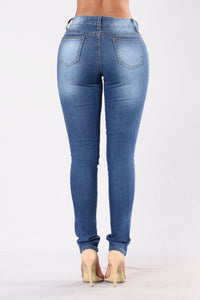 Super Unique Jeans - Medium Blue
