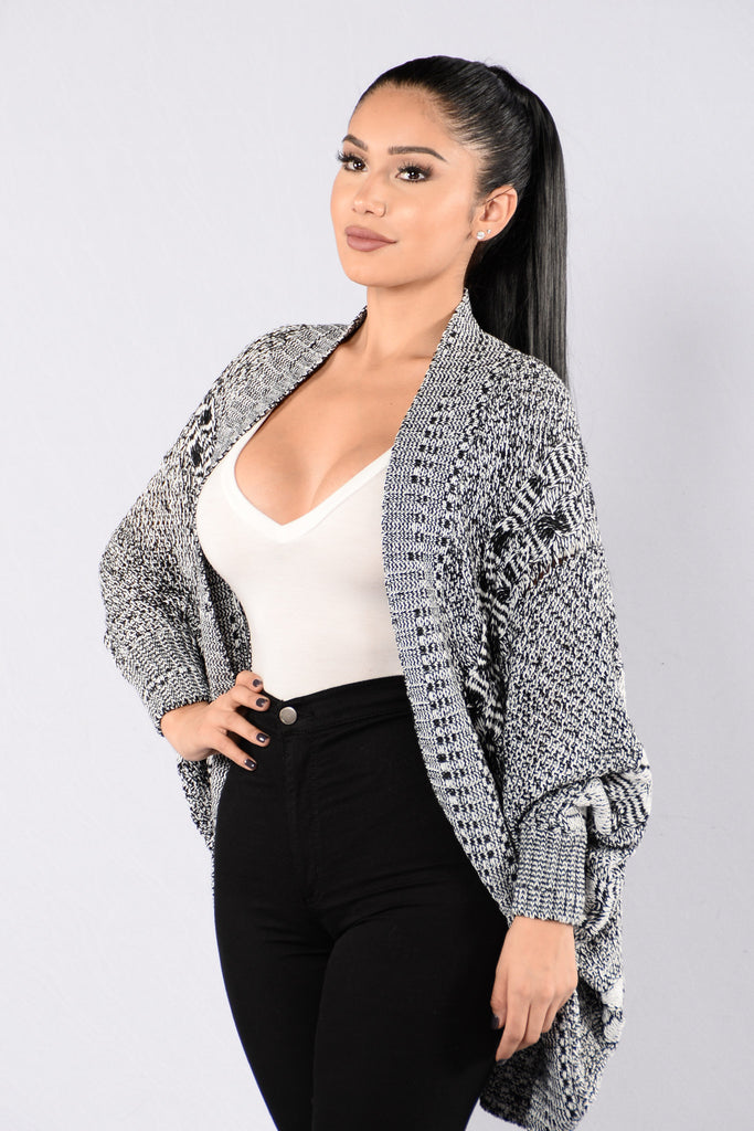 Needed Me Cardigan - Black/White