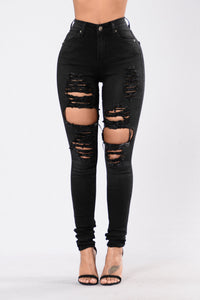 Fade Into You Jeans - Faded Black