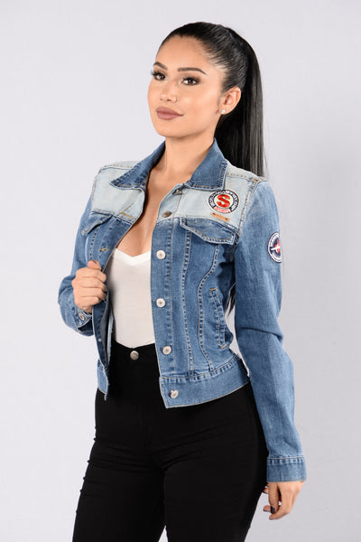 Just Hit The Road Denim Jacket - Denim