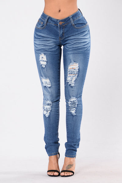 Tracey Jeans - Medium Blue