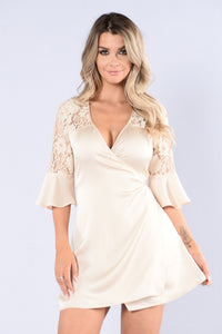 Lace You To It Dress - Cream