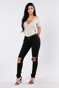 Current Event Jeans - Black Angle 2