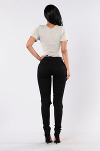 Current Event Jeans - Black Angle 5