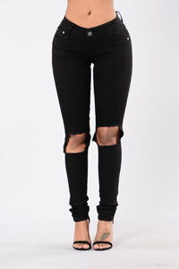 Current Event Jeans - Black Angle 1