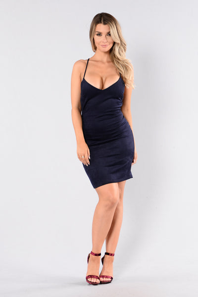 Come On Over Dress - Navy