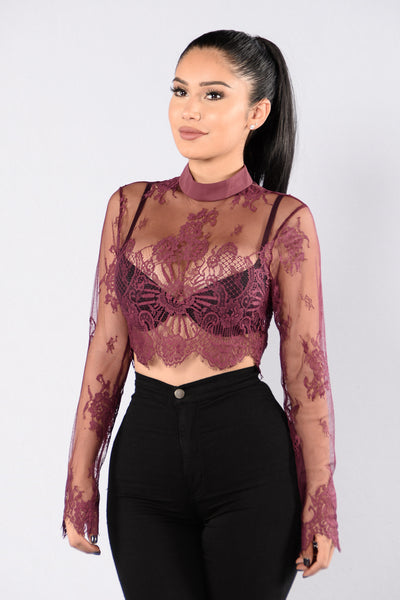 Only Girl Top - Burgundy