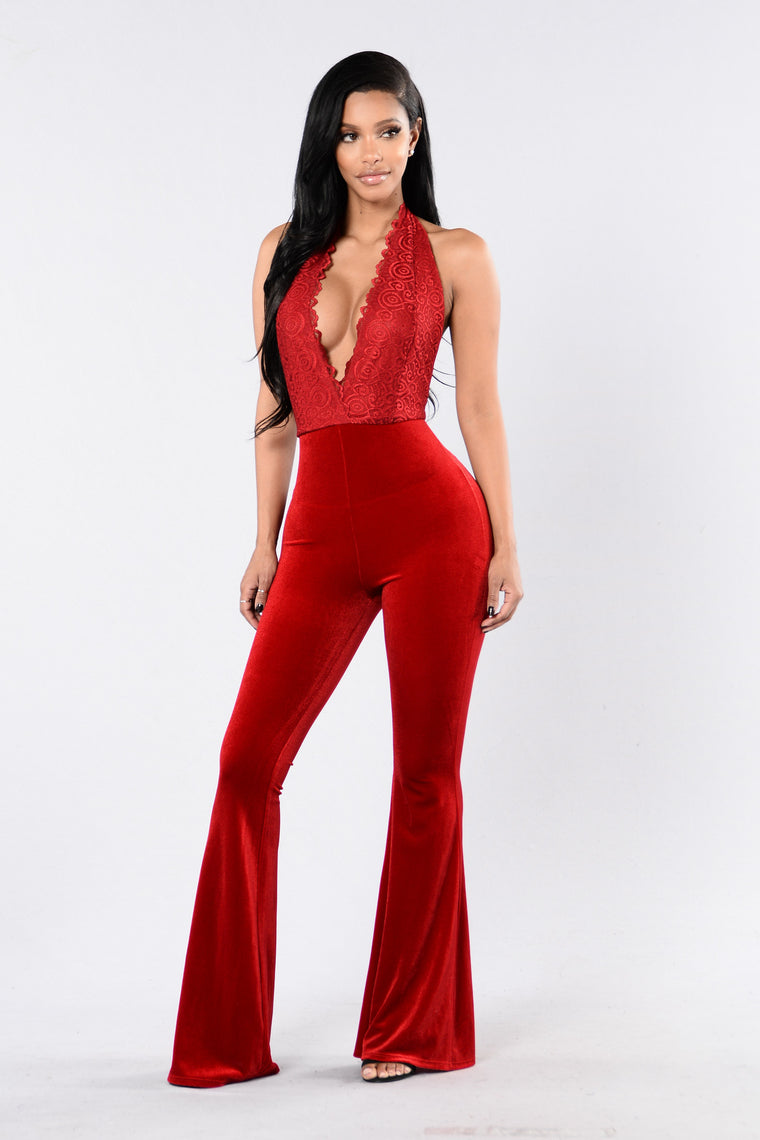 Satisfaction Guaranteed Jumpsuit - Red