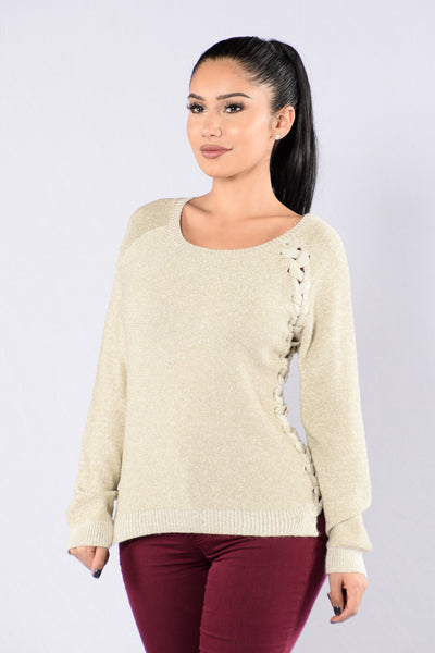 Sparkle In Your Eye Sweater - Gold