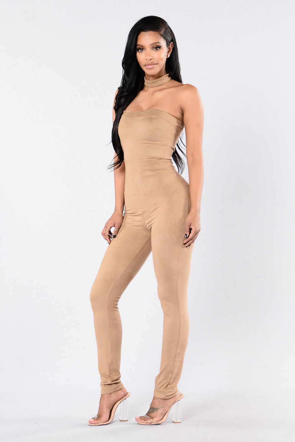 Pull Up To The Scene Jumpsuit - Mocha