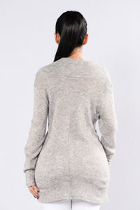 Rain On The Roof Sweater - Heather Grey