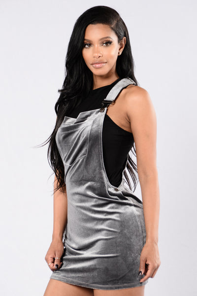 Game of Love Overall Dress - Silver