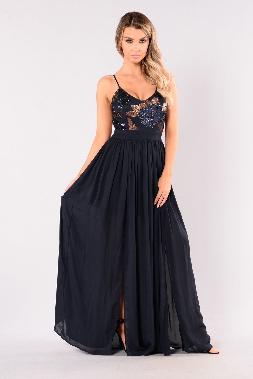 Feeling It Dress - Navy