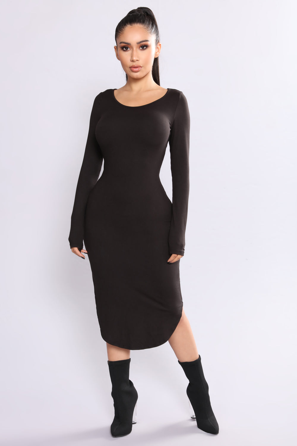 Selah Midi Dress - Black