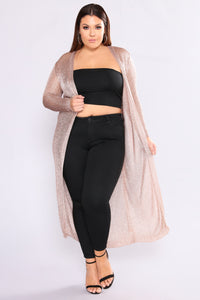 Dreams Of Paradise Duster Cardigan - Rose Gold