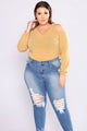 Dani Cold Shoulder Sweater - Mustard