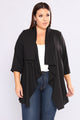 Season Change Draped Jacket - Black