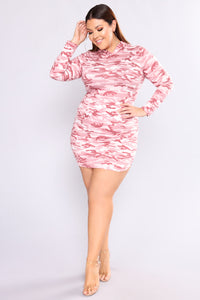 Blend In Camouflage Tunic - Pink
