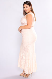 Impeccable Taste Lace Dress - Blush