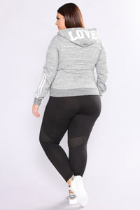 Meshing Up Active Leggings - Black Angle 5