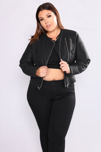 Revved Up Moto Jacket - Black