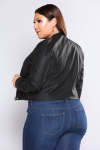 Just Faux You Moto Jacket - Black